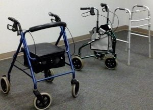 0, 2, 3, and 4 wheeled walker